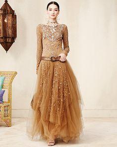 Beaded Sarena Gown - Dresses & Skirts Spring 2015 Apparel - Ralph Lauren UK