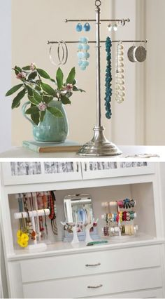 Jewelry stands are easy to use and still keep your jewelry well-organized.