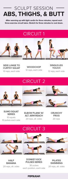 A Printable Workout to Target Your Legs and Core in Just 20 Minutes