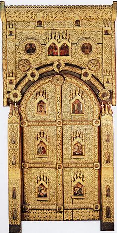 Royal Doors, Stairs And Doors, Religion, Christian Artwork, Russian Icons, Byzantine Art, Building Facade, Orthodox Icons, 16th Century
