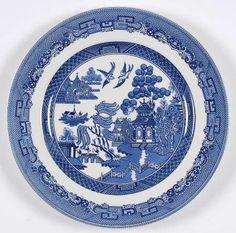 Blue willow pattern johnson bros i have a lovely set - Johnson brothers vajilla ...