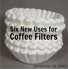 Get your windows to sparkle. Coffee filters are great to use if you are out of paper towels because they leave no lint or other residue.  -