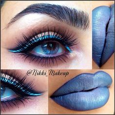STUNNING ! I have just bought a vivid blue like this but was not sure what to do but this this i love and will do.  Since the blue is just a lining it is perfect for someone who is wanting to add some color to their look