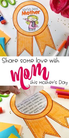 Looking for an easy Mother's Day craft for your students to make in class? Tired of ideas and activities that take TONS of prep? These easy Mothers Day ribbons are perfect for Mom and make a great bulletin board display. Perfect for kids of all ages with options for more or less writing depending on age.