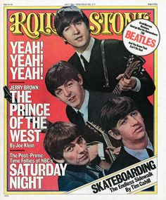The Beatles on the July 15, 1976 cover