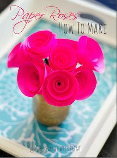 Paper roses how-to make spiral flowers