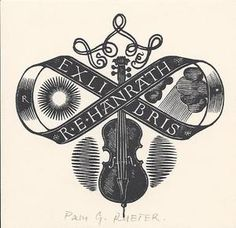 violin bookplate