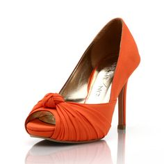 Custom Made Wedding Heels Orange Wedding Heels by ChristyNgShoes, $150.00