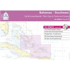 NV-Charts Reg. 9.3 - Bahamas - Southeast: Cat & Long Islands - Rum Cay to Turks and Caicos - £79