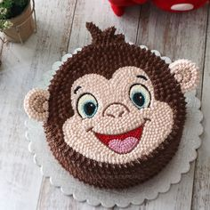 casein mug cake Cake Decorating Videos, Cake Decorating Techniques, Best Birthday Cake Designs, Monkey Birthday Cakes, Cartoon Cakes, Cake Wallpaper, Cake Shapes, Animal Cakes, Cute Cakes
