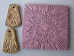 great way to make texture plates, maybe use cartable blocks or polymer clay already baked