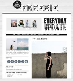 simple classic template for fashionable blogger