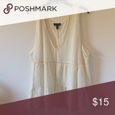Flowy ivory blouse Sheer Jessica Simpson Tops Blouses