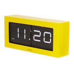 Cloudnola Prince Flip Clock Yellow and Black Projector Wall, Diy Clock, Calendar Design, Prince, Digital Alarm Clock, Furniture Design, Contemporary, Yellow, Dorm Room
