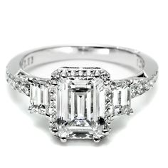 "Tacori engagement ring from the Dantela collection, a stunning ring to say the words ""yes"" to! http://www.genesisdiamonds.net/tacori-2621ecp-engagement-ring.html"