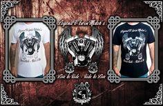(Camiseta Legend V-Twin Motors). Visite https://www.cavalariastore.com.br e conheça esta camiseta com a arte exclusive desenvolvida pela Cavalaria de Aço!