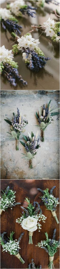 lavender wedding Boutonnieres ideas