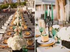 An Elegant Wedding Color Palette: Emerald Green