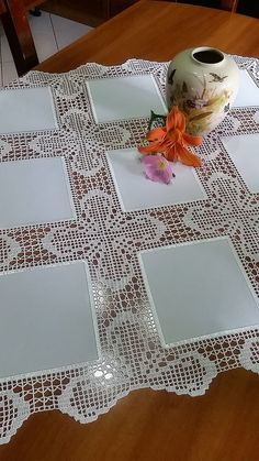 Elegant Filet Crochet Tablecloth For Modern Table Decor | Crochet Filet