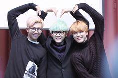 Namjoon, Yoongi and Jimin adorable heart <3