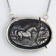 Horse Cameo Wax Seal Necklace by Pyrrah - symbol of intelligence and grace