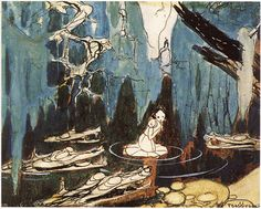 Snow White concept art by Gustaf Tenggren