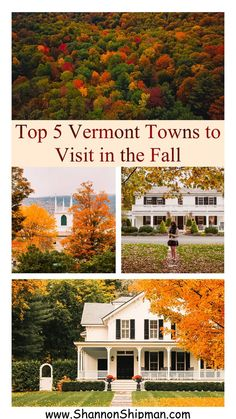 Top 5 Best Vermont Towns to Visit in the Fall Oh The Places You'll Go, Cool Places To Visit, Places To Travel, New England Fall, New England Travel, Woodstock Vermont, Stowe Vermont, Beach Trip, Beach Travel