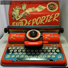 Máquina de Escribir de Juguete. Marca Cub Reporter.