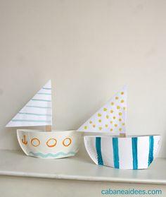 Comment fabriquer un bateau dans une assiette en carton - Cabane à idées