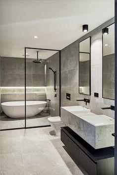 Brookville Road Residences by Megowan Architectural - Bathroom - Bathroom Decor Dream Bathrooms, Beautiful Bathrooms, Master Bathrooms, Luxury Bathrooms, Small Bathrooms, Bathroom Design Luxury, Home Interior Design, Bath Design, Bathroom Layout