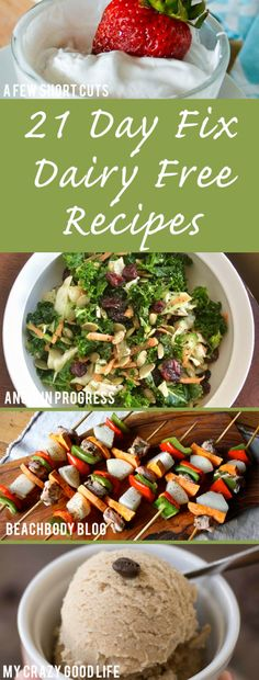 Following the 21 Day Fix with food allergies might seem impossible, but it's not! Here are some delicious 21 Day Fix Dairy Free breakfast, lunch and dinner, and dessert recipes for you to try today!