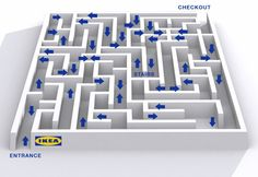 Tales from the Crypt. Why travel to old French cathedrals to do contemplative maze-walking when you probably have a real Swedish IKEA nearby? Trendy Furniture, Ikea Furniture, Furniture Sale, Furniture Ideas, Furniture Removal, Furniture Movers, Ikea Hacks, Ikea Map, Weird Facts