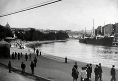 Bilbao, the estuary up to the square of the Salve. Ca. 1900.