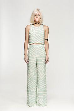 Nookie oriental safari maxi dress