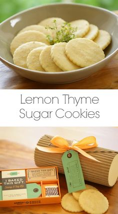 French Delicacies Essentials - Some Uncomplicated Strategies For Newbies Lemon Thyme Sugar Cookies Diy Cookie Tube With Robert Mahar Via Entwithbeth Easy Gluten Free Desserts, Easy Summer Desserts, Easy Brunch Recipes, Fancy Desserts, Cut Out Cookie Recipe, Cookie Recipes, Dessert Recipes, Lemon Sugar Cookies, Sugar Cookies Recipe