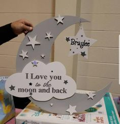 Love you to the moon and back sign, I love you to the moon nursery decor, moon and stars baby shower, gender neutral nursery, nursery decor - Metarnews Sites Gender Neutral Baby Shower, Baby Shower Themes, Baby Boy Shower, Baby Shower Gifts, Shower Ideas, Moon Nursery, Star Nursery, Nursery Decor, Baby Decor