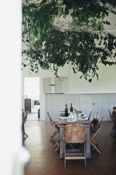 """Eine """"grüne"""" Decke aus Pflanzen - toll! #pflanzenfreude #living"""