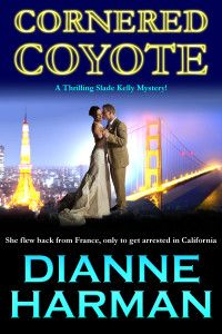 "99cents Mystery in ""CORNERED COYOTE"" by Dianne Harman      CLICK ON COVER  CORNERED COYOTE by Dianne Harman  99cents-Today, June 3, 2014 Dianne Harman's third and final book in the Coyote series, Cornered Coyote, is a throbbing tale of love, courage and passion.  The frailties of human nature are deftly brought into the spotlight, as insecurity, jealousy, hatred, contempt and xenophobia rear their ugly head from time to time. Follow the loveable yet eccentric priv"