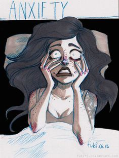 illustration captures anxiety...this is so well drawn