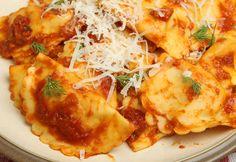 ravioli with red clam sauce Olivia Recipes