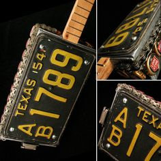 T Red's Blues Boxes. Hand crafted cigar box guitars by Tony Redman of Austin, TX. Cigar Box Diy, Cigar Box Crafts, Cigar Box Guitar, Cigar Boxes, Diy Box, Licence Plates, License Plate Art, Blue Box, Red And Blue