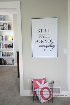 Looking for some Master Bedroom decor? Check out these fun signs Amy made with Shutterfly for her Master Bedroom. Via @theidearoom
