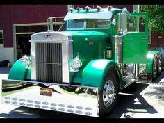 Green old school Peterbilt