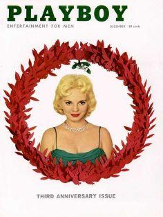 Vintage Playboy Cover December 1956