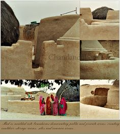 A little away from the city enclosed within the honey coloured walls of the Jaiselmer fort, Rajasthan, . Mud Hut, Concrete Structure, Mexican Artists, Honey Colour, Village Houses, Flat Roof, Countries Of The World, Wall Colors, Designs To Draw