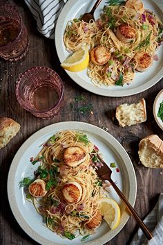When summer produce feels like a distant memory, it's time to relish the many gifts from the sea. This sauteed scallops recipe from Hatch's Fish Market in Wellfleet, Massachusetts, is a Yankee classic. Scallop Dishes, Scallop Recipes, Fish Recipes, Seafood Recipes, Cooking Recipes, Ww Recipes, Recipies, Fish Dishes, Main Dishes