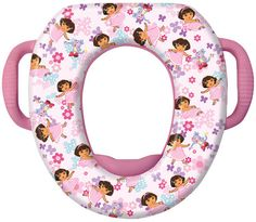 ginsey nickelodeon dora the explorer soft potty seat in superstyle pink