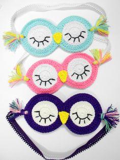 Firefly Crochet: Sleepy Owl sleeping mask - Mặt nạ cú đi ngủ (pattern)