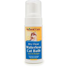 4 oz. Dry clean your cat! Leave-on foam.