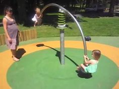 spring teeter totter that spins